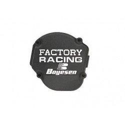 Couvercle de carter d'allumage BOYESEN Factory Racing alu noir Yamaha YZ125