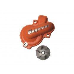 Carter de pompe à eau + hélice BOYESEN alu orange KTM SX-F450