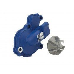 Carter de pompe à eau + hélice BOYESEN alu bleu Yamaha YZ250