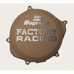 Couvercle de carter d'embrayage BOYESEN Factory Racing alu couleur magnésium Yamaha YZ125