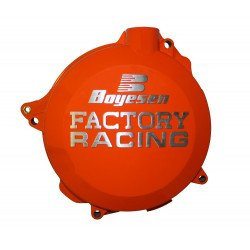 Couvercle de carter d'embrayage BOYESEN Factory Racing alu orange KTM EXC450/500