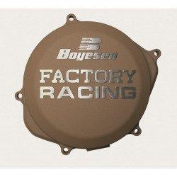 Couvercle de carter d'embrayage BOYESEN Factory Racing alu couleur magnésium Honda CRF450X
