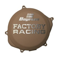 Couvercle de carter d'embrayage BOYESEN Factory Racing alu couleur magnésium KTM SX125/150 Husqvarna TC125
