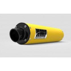 Silencieux HMF Performance Series jaune/casquette Turn Down noire Can Am - Non homologué pour la route