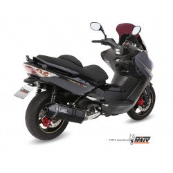 Ligne complète MIVV Speed Edge inox silencieux Steel Black/casquette carbone KYMCO XCiting 500