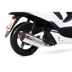 Ligne complète SCOPRION Serket inox silencieux noir céramique/casquette noir ABS Honda PCX 125