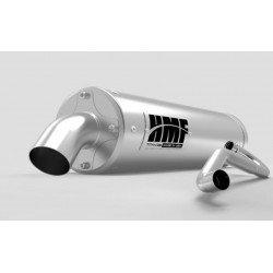 Ligne complète HMF Titan QS Series silencieux inox/casquette Billet Recessed Polaris Sportsman XP 1000