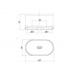 Filtre à air BMC Standard double Yamaha FZR1000