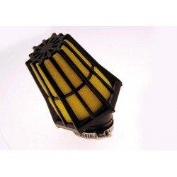 Filtre à air BIHR 30° noir/jaune