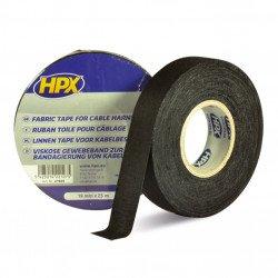 Ruban adhésif toile HPX noir 19mm x 25m