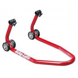 Bequille avant BIKE LIFT spécifique Yamaha rouge avec supports coniques