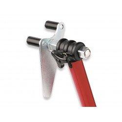 Bequille avant BIKE LIFT universelle rouge avec supports à rouleaux