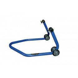 """Béquille arrière universelle BIKE LIFT bleu avec supports caoutchouc en """"L"""""""