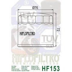 Filtre à huile HIFLOFILTRO HF153 noir Ducati