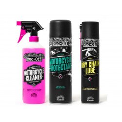 Kit entretien MUC-OFF Motorcycle Clean Protect & Lube Kit