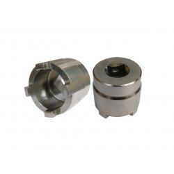 Douille à créneaux JMP pour bras oscillant/chassis Øint.28,5mm/Øext.37mm 4 crans Kawasaki