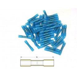 Bout à bout à sertir thermo-rétractable BIHR Ø1,5/2,5mm² - 50pcs transparent bleu
