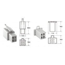 Jeu de connectiques 4 voies 110 ML BIHR type origine Ø0,5mm²/0,85mm² - 5 jeux complets