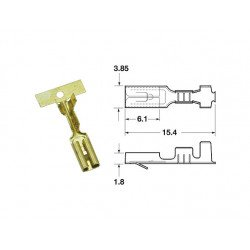 Cosse femelle série 110 ML BIHR Ø0,85mm²/1,25mm² - 50pcs