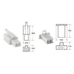 Jeu de connectiques 2 voies 110 ML BIHR type origine Ø0,5mm²/0,85mm² - 5 jeux complets