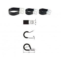 Serre-câble BIHR inox caoutchouc fin Ø19,1mm 10 pièces