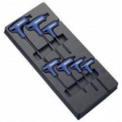 Module d'outils EXPERT 7 clés males Torx en T - plateau plastique