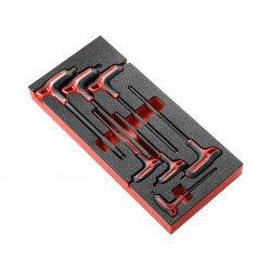 Module FACOM 7 clés mâles 6 pans poignées en T