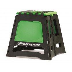 Lève-moto fixe POLISPORT repliable vert/noir