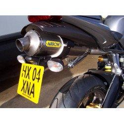 Support de plaque R&G RACING noir Triumph Daytona 675