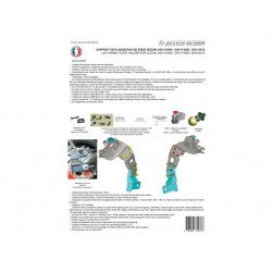 "Support de plaque ACCESS DESIGN ""ras de roue"" noir Suzuki GSX-S1000"
