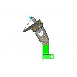 """Support de plaque ACCESS DESIGN """"ras de roue""""  noir Yamaha XJR1300"""