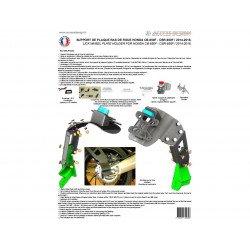 "Support de plaque ACCESS DESIGN ""ras de roue"" noir Honda CB650F"