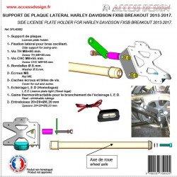 Support de plaque ACCESS DESIGN latéral noir Harley Davidson Breakout