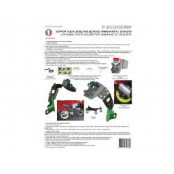 """Support de plaque ACCESS DESIGN """"ras de roue"""" noir Yamaha MT-10"""