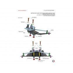 """Support de plaque ACCESS DESIGN """"ras de roue"""" noir Honda X-ADV"""