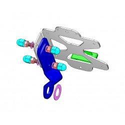 Support de plaque ACCESS DESIGN latéral noir Kawasaki Vulcan