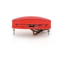 Feu arrière BIHR LED petit modèle rouge avec éclairage de plaque universel