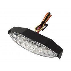 Feu arrière LIGHTECH LED avec éclairage de plaque et casquette alu noir universel