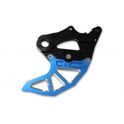 Protège disque arrière ART bleu avec protection étrier Sherco