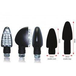 Clignotants BIHR Triangle LED long noir universel