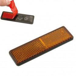 Catadioptre V PARTS rectangulaire 91x25mm orange
