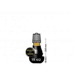 Valve droite caoutchoutée BIHR TR412