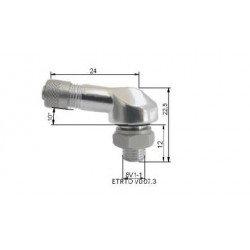 Valve pneumatique alu BIHR Ø8,5mm argent