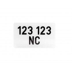 """Plaques Françaises PPI 210x130 SIV Département 988NC PVC """"spéciale Nouvelle-Calédonie"""" 10 pièces"""