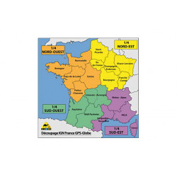Carte IGN GPS Globe 1/2 France nord 1/25000e