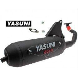 Echappement YASUNI Eco acier noir Suzuki AY50 Moteur Morini