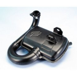 Echappement POLINI Echappement type détente Acier noir/silencieux aluminium Piaggio Vespa PX125/150