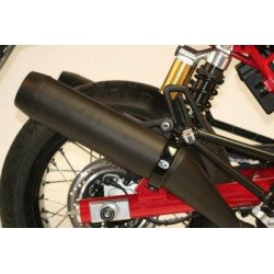 Protection de silencieux rond R&G RACING noir Ø100mm