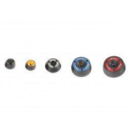 Protection de fourche et bras oscillant (axe de roue) LIGHTECH noir Yamaha YZF-R6