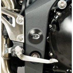 Insert de cadre gauche R&G RACING noir Triumph Speed Triple 1050/Speed 94